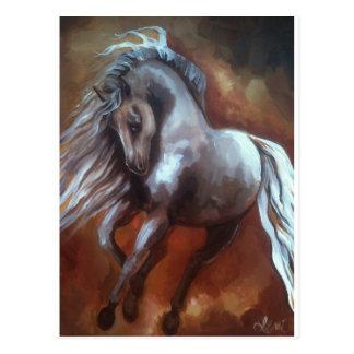 Cartão Postal Cavalo andaluz por Leni Tarleton