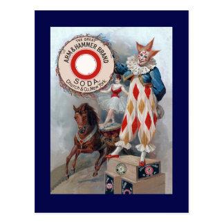 Cartão Postal Cavalo da boneca do palhaço