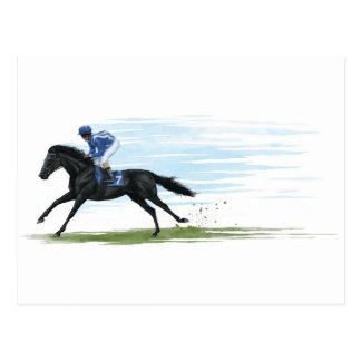Cartão Postal cavalo de corrida