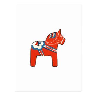 Cartão Postal Cavalo de Dala do feriado
