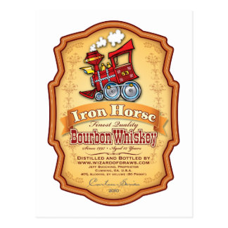Cartão Postal Cavalo de ferro Bourbon