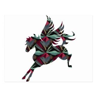 Cartão Postal Cavalo de Pegasus