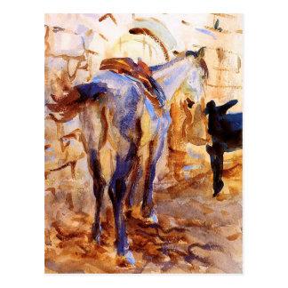 Cartão Postal Cavalo de sela, Palestina por John Singer Sargent
