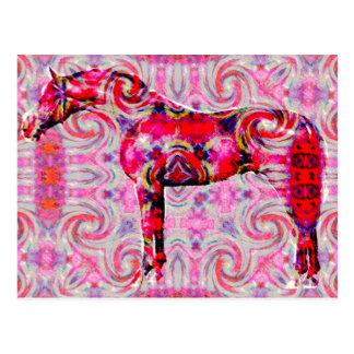 Cartão Postal cavalo de uma cor diferente