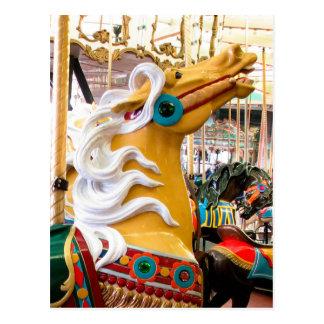 Cartão Postal Cavalo do carrossel de Looff do Palomino