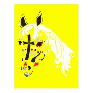 Cartão Postal cavalo do crânio do açúcar