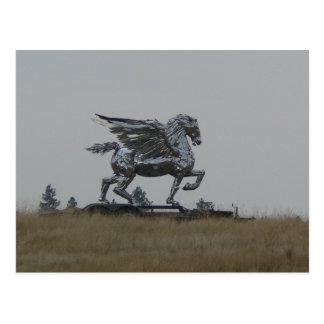 Cartão Postal Cavalo do cromo