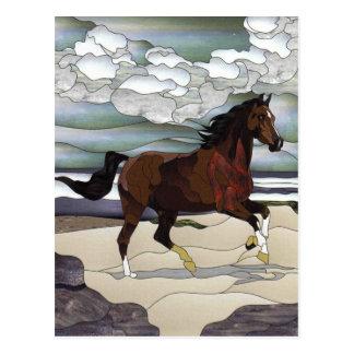 Cartão Postal Cavalo do vitral