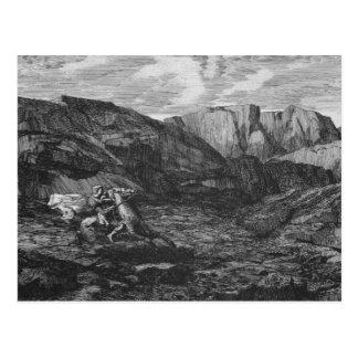Cartão Postal Cavalo e cavaleiro