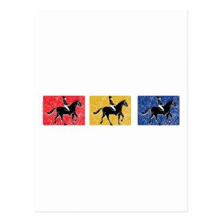 Cartão Postal Cavalo e cavaleiro ingleses