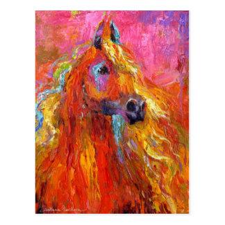 Cartão Postal Cavalo impressionista #2