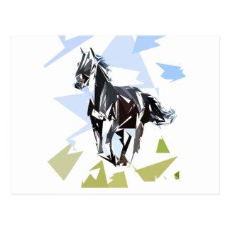 Cartão Postal Cavalo preto