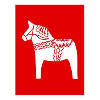 Cartão Postal Cavalo vermelho de Dala