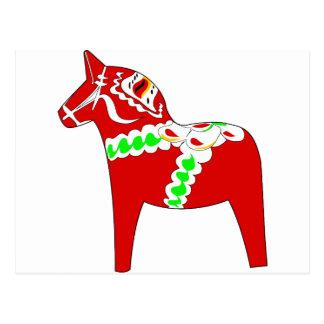 Cartão Postal Cavalo vermelho de Dalarna