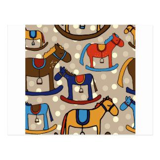 Cartão Postal cavalos de balanço