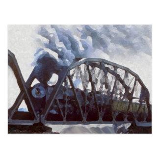 Cartão Postal Cavalos de ferro & pontes do ferro