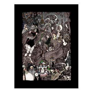 Cartão Postal Caverna de trabalhos de arte góticos do baço