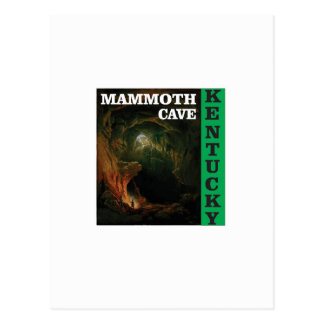 Cartão Postal Caverna gigantesca verde Kentucky