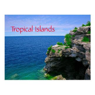 Cartão Postal Caverna tropical do mar