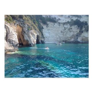 Cartão Postal cavernas bonitas na piscina