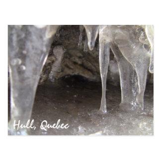 Cartão Postal Cavernas de gelo corajosos de Quebeque da casca