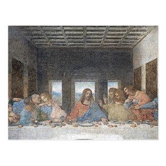 Cartão Postal ceia de da Vinci a última