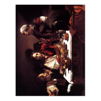 Cartão Postal Ceia de Michelangelo a Dinamarca Caravaggio da