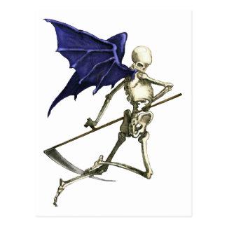 Cartão Postal Ceifeira nas asas escuras da morte