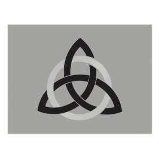 Cartão Postal Céltico cinzento preto do nó da trindade