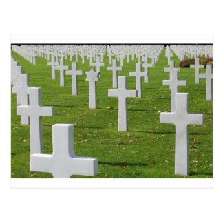 Cartão Postal Cemitério americano em Normandy