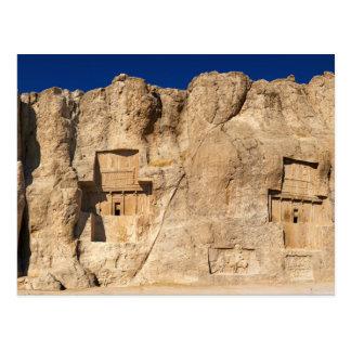 Cartão Postal Cemitério de Shiraz Irã da necrópolis de Naqsh-e