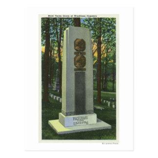 Cartão Postal Cemitério de Woodlawn, cena da lápide de Mark
