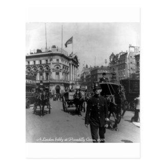 Cartão Postal Cena 1901 da rua do circo de Londres Piccadilly do