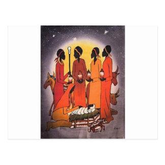 Cartão Postal Cena africana da natividade do Natal