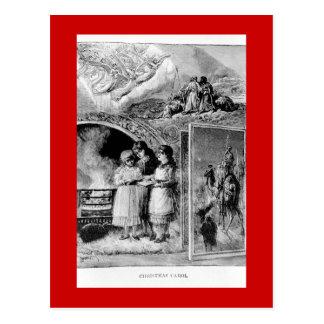 Cartão Postal Cena bíblica do Natal do Victorian do vintage