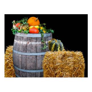 Cartão Postal Cena da colheita da acção de graças com tambor e