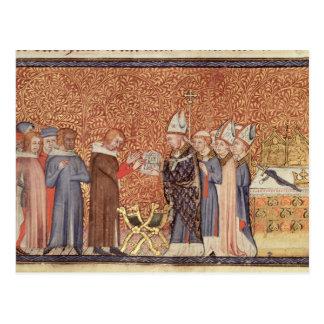 Cartão Postal Cena da coroação f.47 da Senhora Algodão Tib B