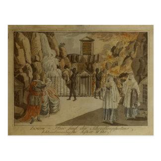 """Cartão Postal Cena """"da flauta mágica"""" por Mozart, 1795"""
