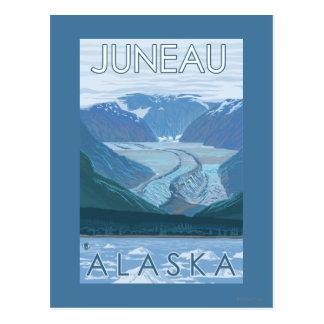 Cartão Postal Cena da geleira - Juneau, Alaska