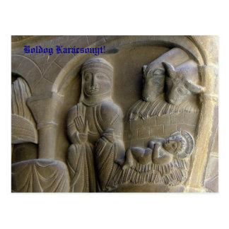 Cartão Postal Cena da natividade com Mary e a criança