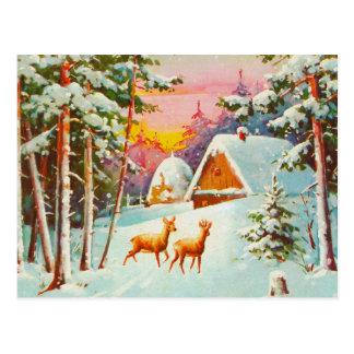 Cartão Postal Cena da neve