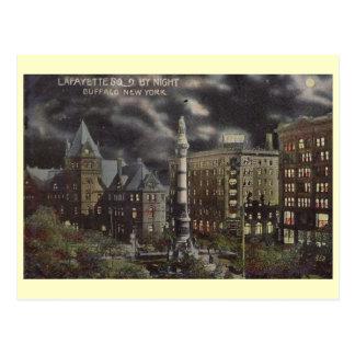 Cartão Postal Cena da noite, búfalo, vintage de New York