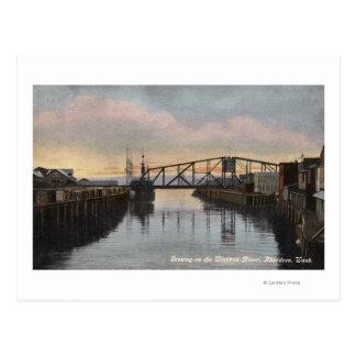 Cartão Postal Cena da noite no rio de Wishkah