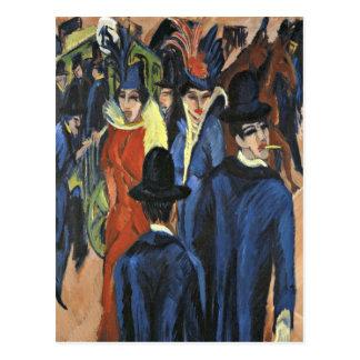 Cartão Postal Cena da rua de Berlim - Ernst Ludwig Kirchner
