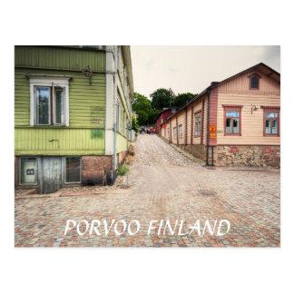 Cartão Postal Cena da rua de Porvoo Finlandia