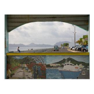 Cartão Postal Cena das caraíbas do mar do lsland