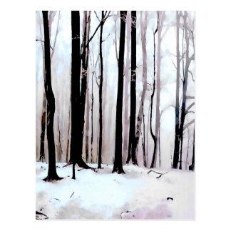 Cartão Postal Cena das madeiras do inverno