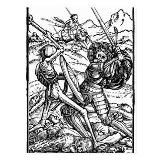 Cartão Postal Cena de batalha