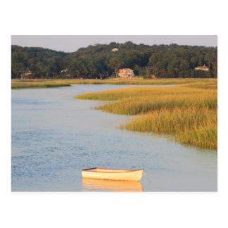 Cartão Postal Cena de Cape Cod, rio de Pamet, Truro