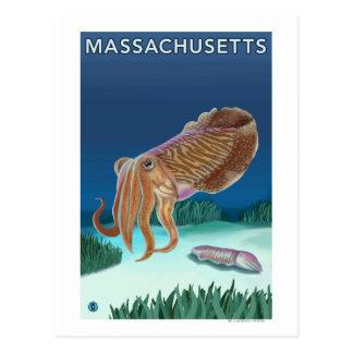 Cartão Postal Cena de MassachusettsCuttlefish